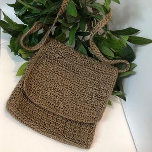 The Sak crocheted flap crossbody bag